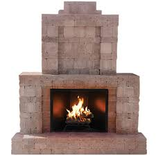 Outdoor Chimney Fireplace by Pavestone Rumblestone 84 In X 38 5 In X 94 5 In Outdoor Stone