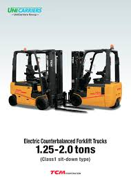 wheel forklift truck ftb13 e1 tcm pdf catalogue technical