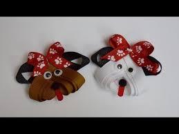 dog ribbon puppy dog ribbon sculpture zoo animal hair clip bow diy free