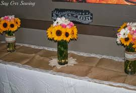 sunflower wedding decorations say grr sewing sunflower wedding the decorations
