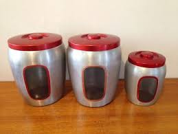 kitchen canisters australia set of 3 vintage metal kitchen canisters collectables gumtree