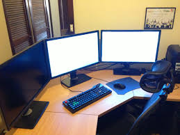 gaming l shaped desk cool computer setups and gaming setups