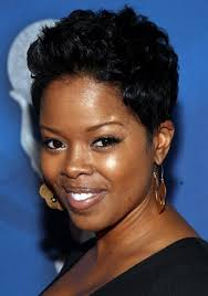 short hairstyles for round faces black women women medium haircut