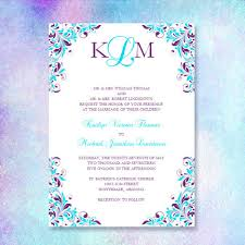 purple and turquoise wedding purple turquoise wedding invitation kaitlyn