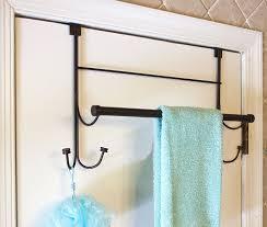 amazon com bathsense over the door towel rack with 4 hooks oil