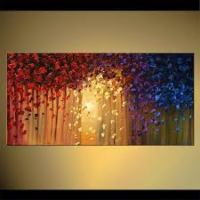 original abstract modern landscape made abstract by osnat tzadok canvas abstract