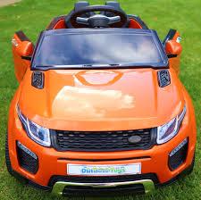 land rover orange range rover evoque style 12v child u0027s electric ride on car jeep
