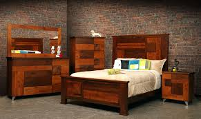 Unique Wood Bedroom Furniture Set Featuring Masculine King