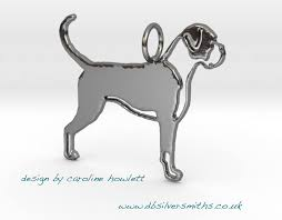 boxer dog with full tail dog pendants