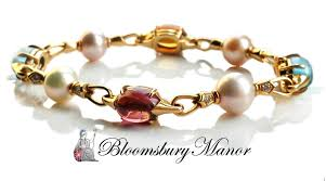 bracelet diamond pearl images Bulgari bvlgari diamond pearl topaz tourmaline citrine bracelet jpg