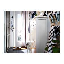 White Shoe Cabinet With Doors by Hemnes Shoe Cabinet With 2 Compartments White Ikea
