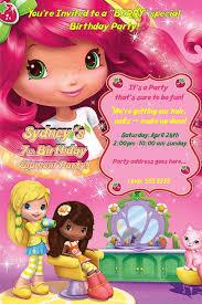 printable birthday invitations strawberry shortcake 79 best strawberry shortcake birthday party invitations images on