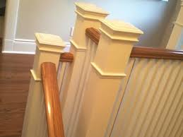 Oak Banister Stairs Spindles And Trim Painting Adept Services