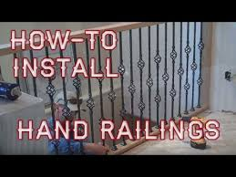 Premade Banister How To Install Balcony Hand Railings Youtube