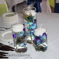 Peacock Centerpieces 6 21 14 Katie And Eric Toledo Wedding Flower Sneak Peek