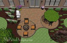 Simple Brick Patio With Circle Paver Kit Patio Designs And Ideas by Simple Brick Patio With Circle Paver Kit Patio Designs And Ideas