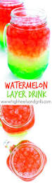 watermelon layer drink recipe layered drinks themed parties