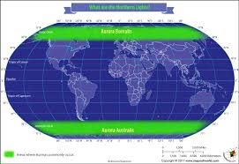 northern lights location map what are the northern lights answers