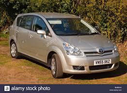 toyota corolla verso a 2005 toyota corolla verso family car in silver in the uk stock