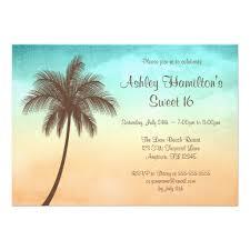 personalized aloha sweet 16 luau party invitations