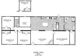 4 bedroom floor plan c 9205 hawks homes manufactured