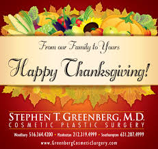 cosmetic surgery happy thanksgiving
