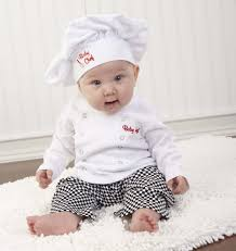 halloween 3 6 months baby aspen baby chef 3 piece layette in culinary gift box white