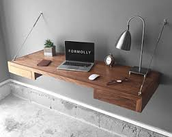 Modern Wall Desk Wall Mounted Desk Etsy