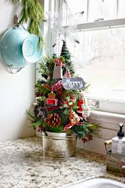 kitchen christmas tree ideas marvelous best small christmas trees ideas for decorating mini image