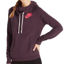 nike burgundy rally funnel neck hoodie u2022the nike rally funnel neck