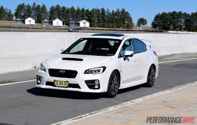 subaru legacy 2016 white 2016 subaru wrx sti review track test video performancedrive