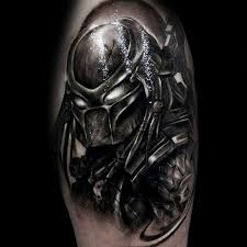50 predator tattoo designs for men sci fi ink ideas
