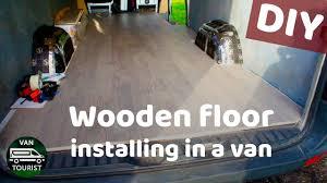 hardwood flooring in a van conversion wooden floor installation
