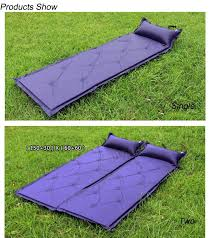 camping hiking sleeping mat air mattress inflatable cushion single