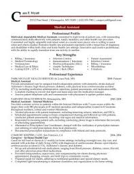 Resume Samples For Professionals by Professional Resume Cover Letter Sample Medical Assistant