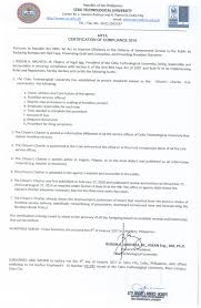 transparency seal cebu technological university