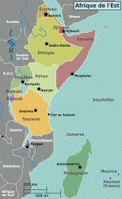 Political Map Africa by Map Of East Africa World Map