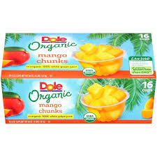 dole fruit bowls dole fruit bowls in box organic mango chunks fruit cups from