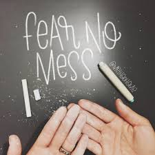fear no mess chalkboard wallpaper experiment u2014 rad u0026 happy