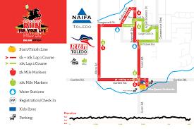 Map Toledo Ohio by Macqueen U0027s Run For Your Life 10k U0026 5k Run Toledo Du Toledo