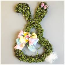 bunny decorations bunny door wreath bunny rabbit easter door decor easter bunny