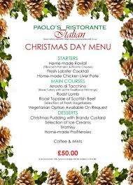 paolo s day lunch menu 25 december 2015 picture of