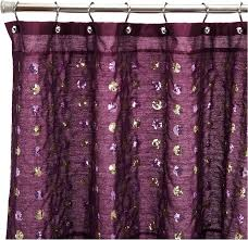 amazon com popular bath sequins shower curtain purple home