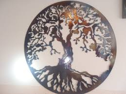 tree of life home decor of life metal wall decor metal art heat colored