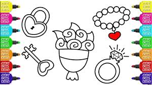 how to draw accessories for wedding coloring pages for baby