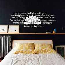 online buy wholesale sticker sayings from china sticker sayings bedroom headboard lotus wall sticker buddha sayings text vinyl removable home decor decals china