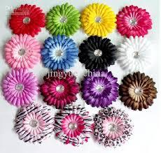 crochet hair bows 4 inch baby girl hair bows hair pin crochet headband flower