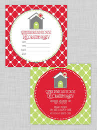christmas cookie party invitations host a kid friendly gingerbread house decorating party hgtv