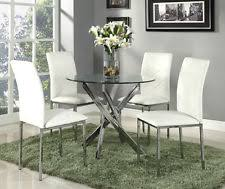 Round Glass Table And Chairs Glass Dining Table And Chairs Ebay