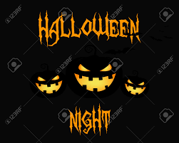 happy halloween party night card halloween pumpkin dark design